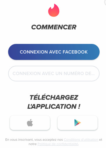 inscription Tinder